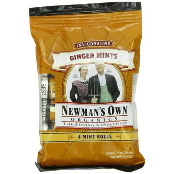 Newman's Own man's Own Organics Mints, Ginger, 4-Count, 3-Ounce Packages (Pack of 6)