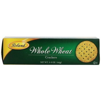 Roland Whole Wheat Crackers, 4.4-Ounce (Pack of 12)