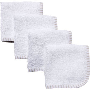 Gerber Newborn Baby Neutral Solid Woven Washcloths - 4 Pack