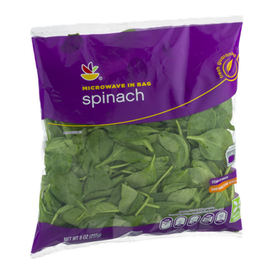 Ahold Microwave In Bag Spinach