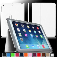 Fintie Ultra Slim Leather Standing Case Cover Auto Sleep / Wake Feature for iPad Air 5 (5th Generation), White