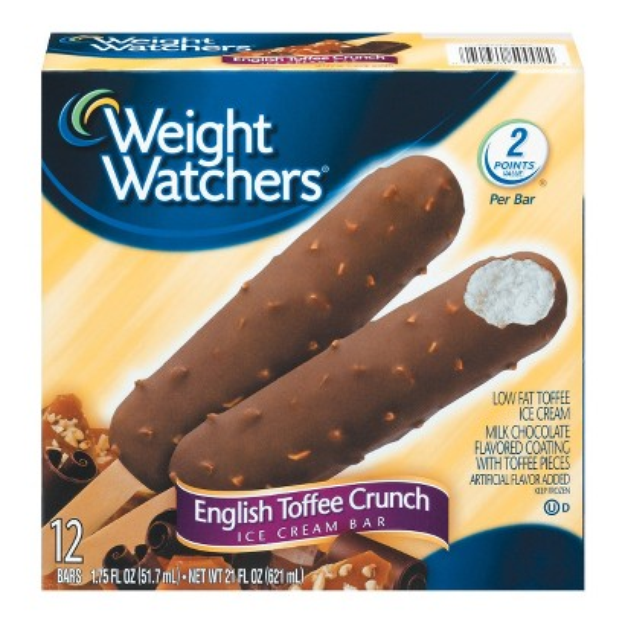 Weight Watchers English Toffee Bar 12ct