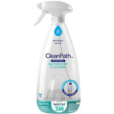CleanPath Sun Lemon Antibacterial Bathroom Cleaner with Refill Pod, 2 pc