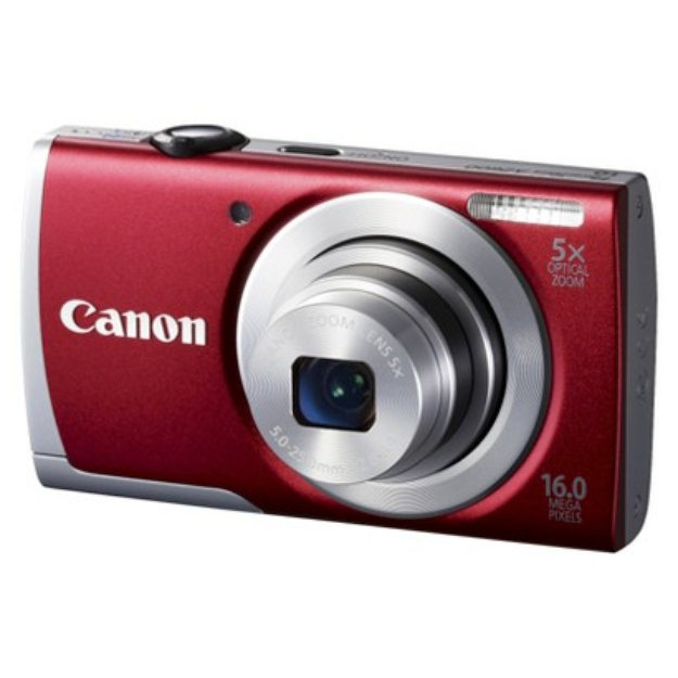Canon PowerShot A2600 16MP Digital Camera with 5x Optical Zoom - Red