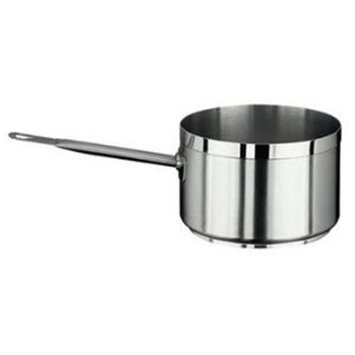 Paderno World Cuisine 11106 Grand Gourmet Sauce Pan, Silver, 9.5 diam. x 6H in. - Silver, 9.5 diam. x 6H in. - 11106-24