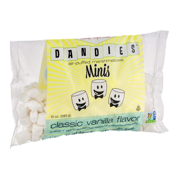 Dandies Air-Puffed Marshmallows Minis Classic Vanilla Flavor