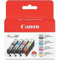 Canon Computer Systems 2946B004 4 Color Pack Ink Tank CLI-221