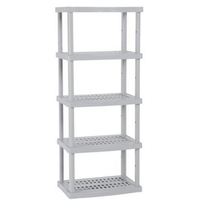 Suncast 5-Shelf Utility Unit - Gray