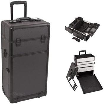 Sunrise Books Sunrise I3263DTAB Black Dot Trolley Makeup Case