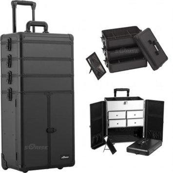 Sunrise Books Sunrise Outdoor Travel Black Smooth Trolley Makeup Case - I3365
