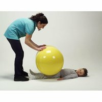 Gymnic 22'' x 36'' Physio Roll Ball in Yellow