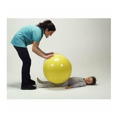 Gymnic 22'' x 36'' Physio Roll Ball in Yellow