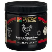 Custom Culinary Master's Touch Select Chicken (no Msg) Base, 16-Ounce Plastic Jars (Pack of 6)