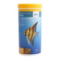 Elive Tropical Color Flakes Fish Food, 2.6 oz ()