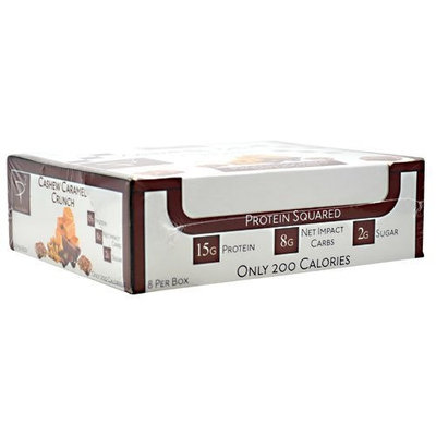 2:1 Protein Bar Protein Squared, Cashew Caramel Crunch, 8 Count