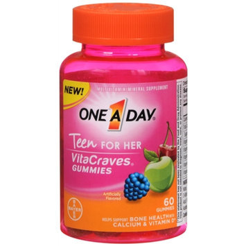 One A Day VitaCraves Teen Vitamins For Her Gummies, Assorted, 60 ea