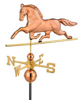 Good Directions Polished Copper Patchen Horse Weathervane 623P