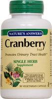 Nature's Answer Cranberry, Super 60 Vegicaps
