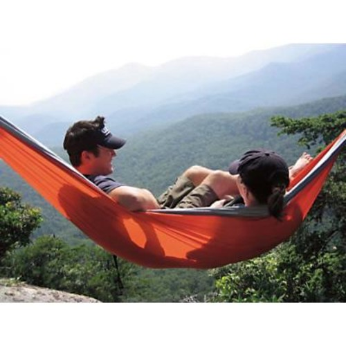 Eno DoubleNest Hammock - Blue/Orange/Khaki