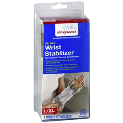 Walgreens Deluxe Right Wrist Stabilizer, Large/XL, 1 ea