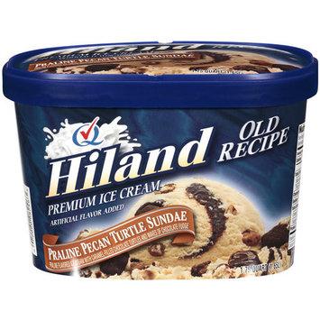 Hiland Old Recipe Premium Praline Pecan Turtle Sundae Ice Cream, 1.75 qt