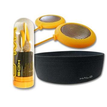 Halo HALOK Headphones Kids, Yellow Speakers Plus Black Headband