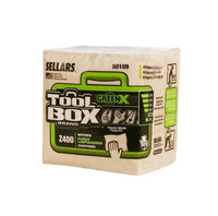 TOOLBOX Cleaning Wipes Z400 GreenX Quarterfold Wipers (60-Count; 12 Bundles Per Case; 720 Sheets Per Case) Color: Natural 50109