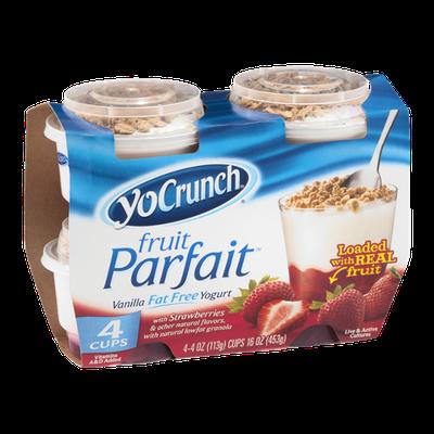 YoCrunch Fruit Parfait Vanilla Fat Free Yogurt - 4 CT