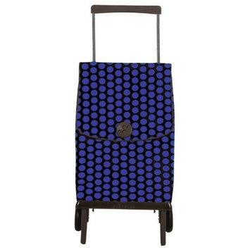 Rolser Plegamatic Orbita Luna Shopping Trolley, Azul/Negro