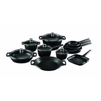 M Block Fundix by Castey 15-pc. Cookware Set with Black Handles