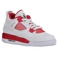 Boys Jordan Retro 4 - Grade School - White/Black/Gym Red