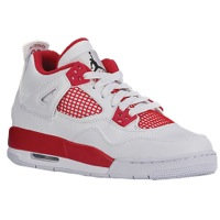 Boys Jordan Retro 4 - Grade School - White/Black/Gym Red
