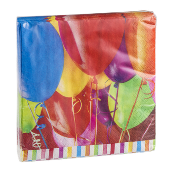 Hallmark Party Beverage Napkins Birthday Balloons - 16 CT