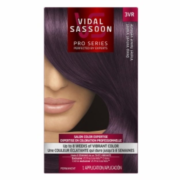 Vidal Sassoon Pro Series Hair Color, 3VR Deep Velvet Violet, 1 kit