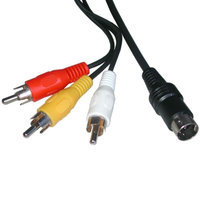 Composite AV Cable for Sega Saturn by Mars Devices