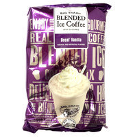 Big Train Decaf Vanilla Latte Blended Ice Coffee Mix - 3.5 lb. Bag