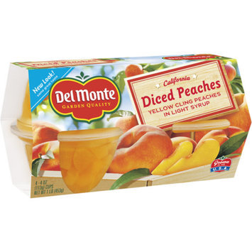 Del Monte Diced Peaches in Light Syrup Fruit Cups 4-pk.