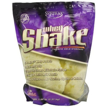 Syntrax Whey Shake, Vanilla Shake Powder, 5 Pounds