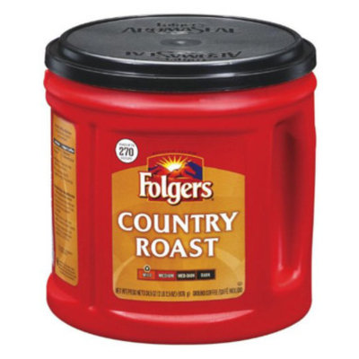 Folgers Country Roast Ground Coffee, 34.5 oz