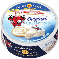 The Laughing Cow Original Creamy Swiss Cheese Wedges, 16 count, 12 oz