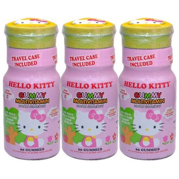 Hello Kitty Gummy Multivitamin Dietary Supplement, 60 Count (Pack of 3)