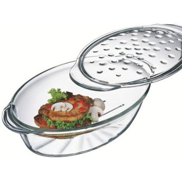 Simax 7406/7416P Fat Free Oval Casserole with Lid - 3.5 Quart