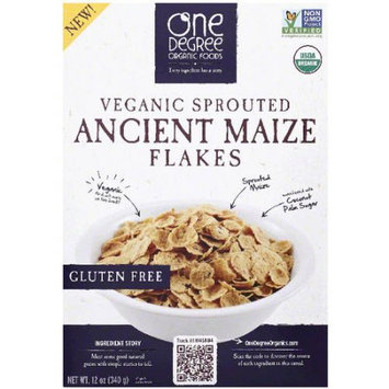 One Degree Organic Foods Veganic Sprouted Ancient Maize Flakes Cereal, 12 oz, (Pack of 6)