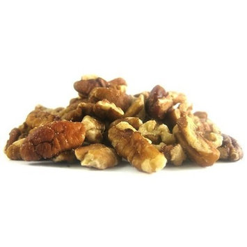 Fisher Pecan Pieces Roasted & Salted, Fancy, Large & Medium, 40-Ounce Package