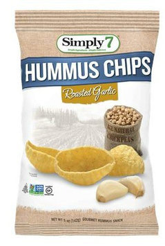 Simply 7 CHIPS, HUMMUS, RSTD GARLIC, (Pack of 12)