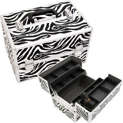 Just Case Usa Inc. Justcase SH5004ZBWH Zebra Pro Beauty Case