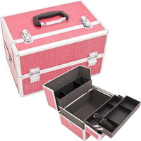 Just Case Usa Inc. Justcase SH5005CRHP Hot Pink Crocodile Pro Beauty Case