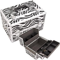Just Case Usa Inc. Justcase SH5005ZBWH Zebra Pro Beauty Case