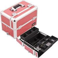 Just Case Usa Inc. Sunrise Hot Pink Crocodile Aluminum Makeup Case