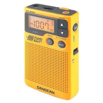 Sangean AM/FM Digital Weather Alert Pocket Radio DT-400W